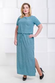 Красивое летнее платье в пол размер плюс <b>Гарсия бирюзовый</b> ...