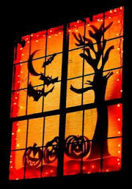 love halloween window decor: window silhouettes  halloween party daccor ideas for adults