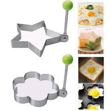 MF <b>4x Stainless Steel</b> Pancake <b>Ring</b> Mould Mold Cooking Fried Egg ...