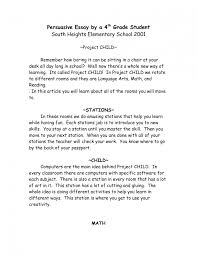 writing a thesis statement elementary school