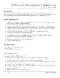 groundskeeper resume sample best template collection groundskeeper resume cover letter