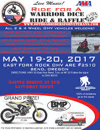 ride for a warrior dice ride and raffle kawasaki teryx forum click image for larger version off road riders for veterans flyer 2017 final