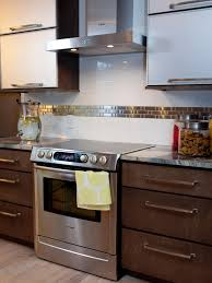 kitchen backsplash stainless steel tiles: subway tile backsplashes hpbrsh stainless steel stove hood xjpgrendhgtvcom