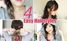 4 Easy & Cute Hairstyles - YouTube