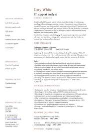 it manager cv example it support analyst cv template resume it template