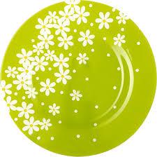 <b>Тарелка PASABAHCE Green Garden</b> обеденная 260мм стекло ...