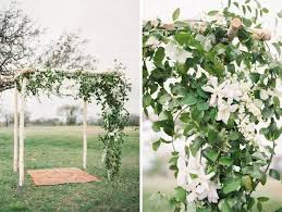outdoor real wedding texas ceremony flowers