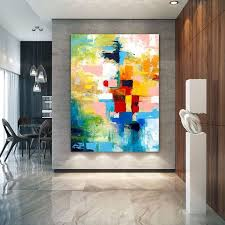 Extra <b>Large Wall Art</b> Palette Knife Artwork Original Painting on ...