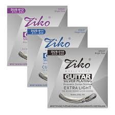 <b>ZIKO DUS Series Acoustic</b> Guitar Strings 010 048 011 052 012 053 ...