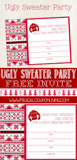 ugly sweater party invite printable