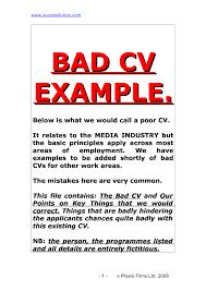bad cv examples uk bad cv examples uk tk