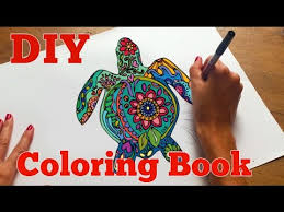 How to Make an Adult <b>Coloring</b> Book | <b>DIY Coloring</b> Book - YouTube