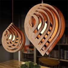 rain drop led wood pendant light rustic lighting fixtures american contemporary design kitchen for shop cheap rustic lighting