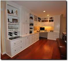 built in office cabinets no upper hutch replace fronts with shaker style add built office desk