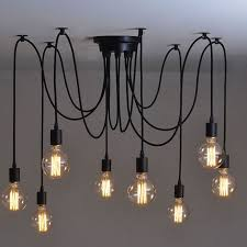 8 heads vintage industrial ceiling lamp edison light chandelier pendant lighting unbrand vintageretro arteriors soho industrial style pendant light fixture