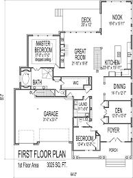 House Drawings of Blueprints Bedroom Home Floor Plan Single    Tudor Style House Plans Custom Luxury SF Bedroom Bath Baement Car Garage