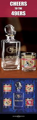 raise a toast to your san francisco 49ers with a handsome 5 piece decanter set box san francisco office 5