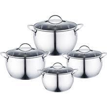 <b>Набор посуды 8</b> предметов: 4 кастрюли Webber BE-337/8