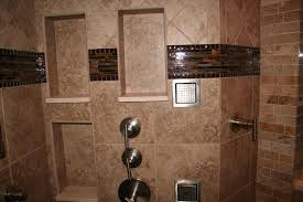 bathroom niches: recessed wall niche for a shower enclosure