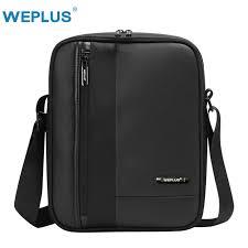 WEPLUS Messenger <b>Bag</b> Men Leather Wateproof Crossbody Bags ...