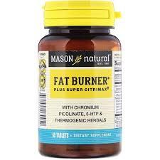 Mason Natural, <b>Fat Burner Plus Super</b> Citrimax, 60 Tablets 60 Count ...
