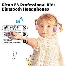 Picun <b>Kids Bluetooth</b> Headphones, 35 Hrs Playtime Foldable Stereo ...