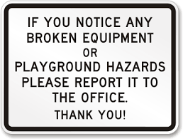Image result for playground hazards