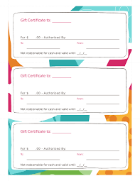 gift certificate template printable gift certificates in blank gift certificate 04