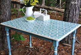 paint dining room table gypsy stenciled farm table black painted breakfast table furniture glazing