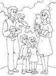 Раскраски моя счастливая семья
