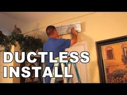 Installation of a Ductless <b>Air Conditioning</b> System - YouTube