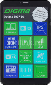 Купить <b>Планшет DIGMA Optima</b> 8027 3G, 1GB, 16GB черный в ...