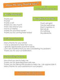 phrases for saying thank you in any situation how to say thank you ideas