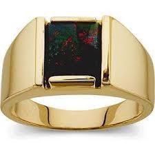 14K Yellow Gold <b>Genuine Bloodstone</b> Ring - 17GG58 – Delphimetals