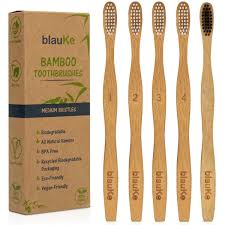 <b>Bamboo Toothbrush Set</b> With Medium Bristles (5 Pack) – <b>Eco</b> ...