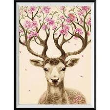 Colorful(TM) Home Decor 5D Diamond Painting <b>Sika Deer</b> ...