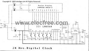 digital clock circuit alarm by lm8560 24hr cheap digital time clock alarm circuit
