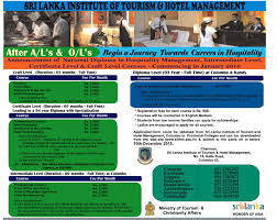 courses national diploma in hospitality management intermediate courses national diploma in hospitality management intermediate level certificate level craft level courses 2016 sri lanka institute of tourism