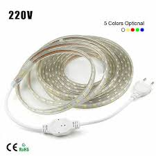 1M-10M Waterproof SMD <b>5050 LED</b> Strip <b>220V</b> 230V 60leds/m ...