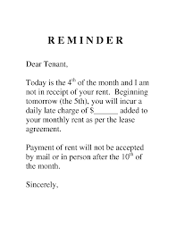 sample letter to tenant for late payment google search letters