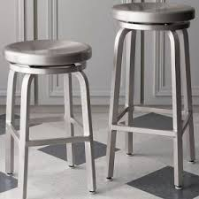 pleasing aluminum bar stools swivel and spin swivel backless bar stools and cushion crate and aluminum crate barrel