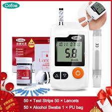 Cofoe YiLi Blood Glucose <b>Meter</b> Diabetes Glucometer With <b>50pcs</b> ...
