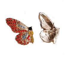 <b>2019 New</b> Diamond Butterfly Wings Stud <b>Earrings</b> Korean 925 Silver ...