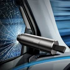 baseus mini car window <b>glass</b> breaker seat belt cutter <b>safety</b> ...