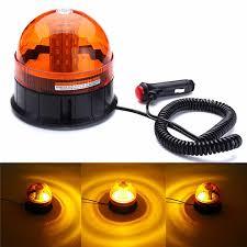 80 <b>LED</b> Magnetic Mount <b>Rotating Flashing</b> Amber Dome <b>Beacon</b> ...