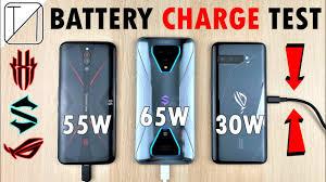 Asus ROG Phone 3 vs <b>Black Shark 3</b> Pro vs RedMagic <b>5G</b> Charging ...