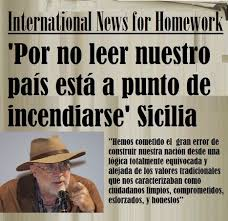 Resultado de imagen para international news for homework