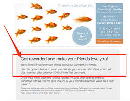 how to use email to get more customer referrals wisepops beckett simonon offers a 25 cash reward for sharing note that they include a way to share directly in the email