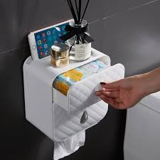 Buy Wall Mounted <b>Tissue Box Multi-Functional</b> Bathroom Storage ...
