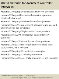 top  document controller resume samples       useful materials for document controller